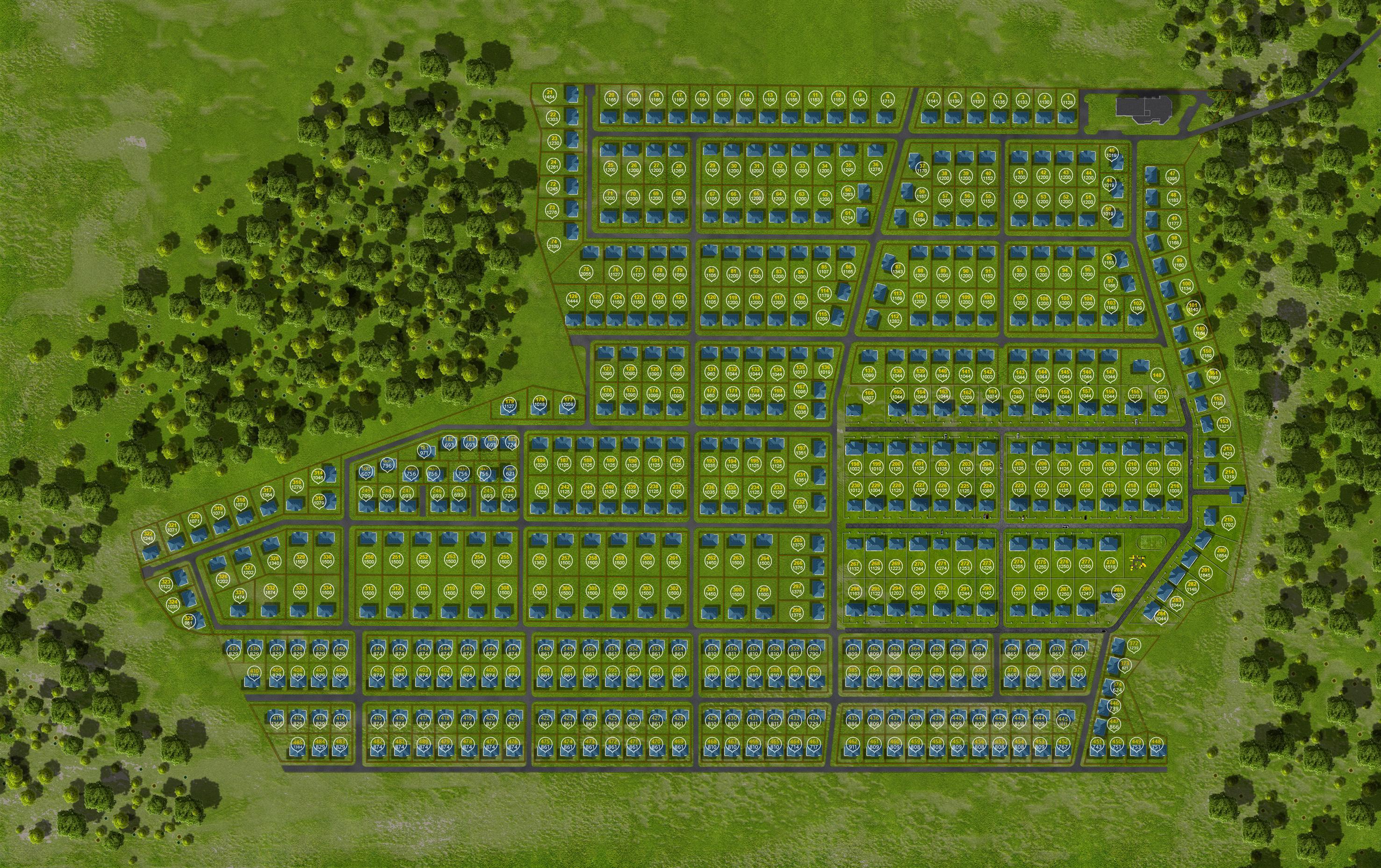 Генплан поселка «Чистые росы»