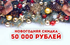 новогодняя скидка 50тр